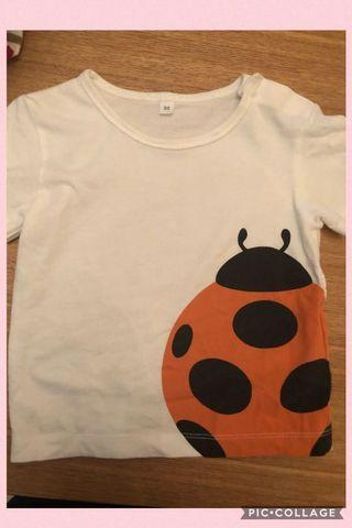 🚚 二手 無印良品 80cm 瓢蟲 T恤 兒童