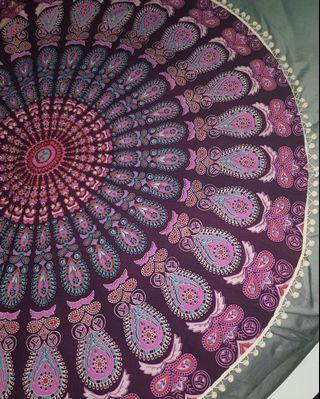 Bohemian mandala floor cushion