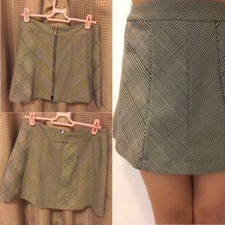Zara Trafaluc mini skirt格仔短裙半截裙sexy party clubbing uniform style番工裙斯文間條上班裙中碼正貨英格蘭英倫風