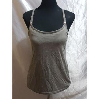 Preloved Nursing-Friendly Gray Sleeveless Top (Size Details on Description)