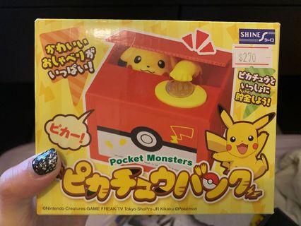 比卡超儲錢筒 儲錢盒 Pikachu Money Saving Box