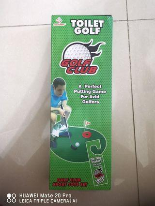 Funny toilet golf