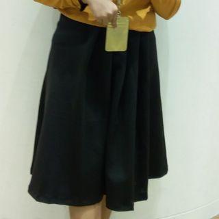 Minimal - Scuba Pleated Skirt