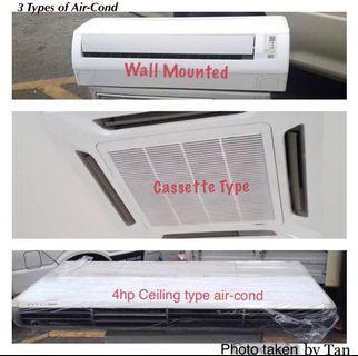 Various types & brands aircond