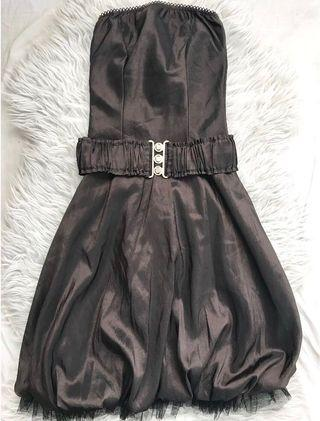 #ChangeTheCycle #ChangewithKimi Brown Bubble Dress with Belt