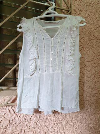 Zara white summer top
