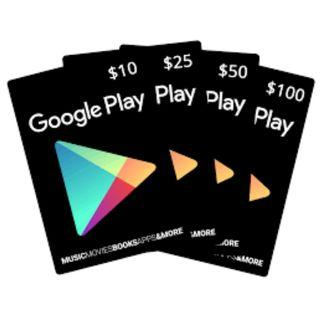 Google Play GiftCard Worth $30
