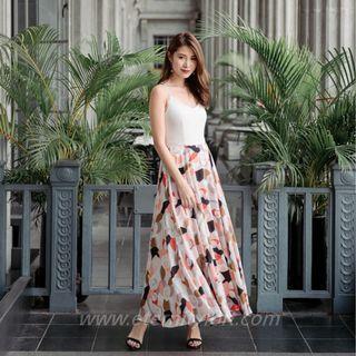 Melisandre Criss Cross Maxi in Rose Blooms