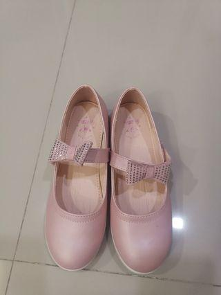 Pink glitter shoes
