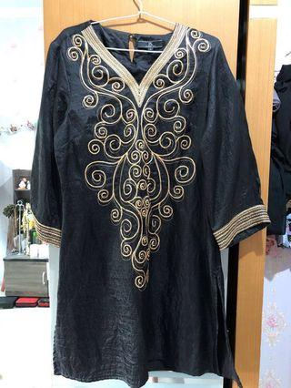 Mididress PS payet gold
