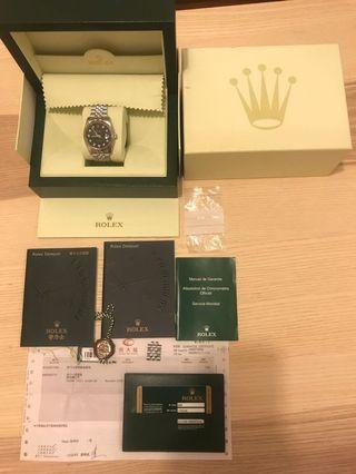 Rolex day just 116234 (黑鑽)