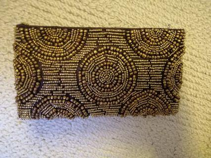Beaded clutch/pouch