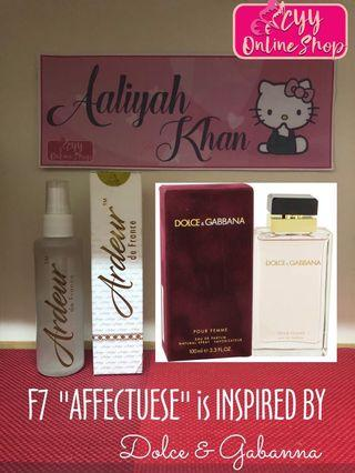 """Ardeur F7 """"Affectuese"""" Inspired by Dolce& Gabanna"""