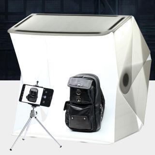 60cm Large size portable quick setup UPGRADED superbright photography studio with 4 LED strips