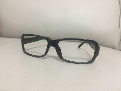 黑色眼鏡框 無鏡片 眼鏡