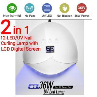 👍👍36W Nail Dryer 2-in-1 UV Lamp 12 LED Lamp Curing Nail Dryer. Usual Price :$59.90. Special Price : $29.90 + FREE mail postage (Brand new in box)