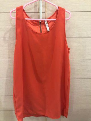 Stradivarius orange dress