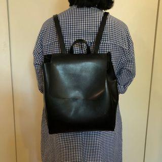 Shiq Bags Faux Leather Mini Backpack