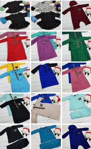 Jubah amy nb to 3mth .6mth only baby jubah
