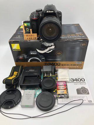 Nikon D3400 + 18-70 + UV 單眼相機 DSLR 二手
