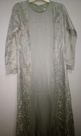 Vanilla Hijab Lana Dress Grey
