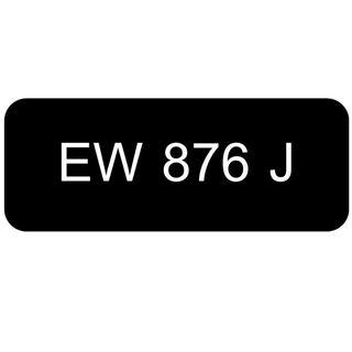Car Number Plate for Sale: EW 876 J