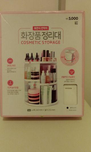 全新韓國製化妝品可轉式收納架