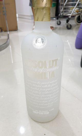 Absolut Vodka Vanilia 1L bottle
