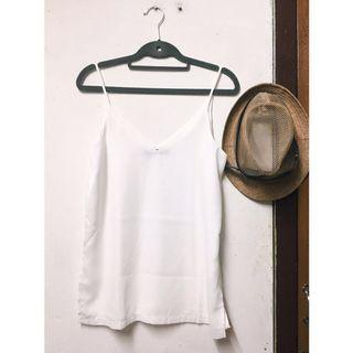 White Cami Top (double layer)