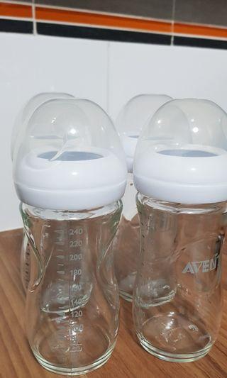 Avent glass milk bottles