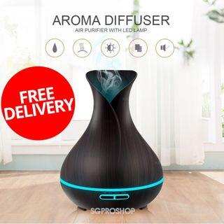 Air Purifier / Humidifer For Home & Office Use. 7 LED Night Lights. Aroma Diffuser. Free Essential Oil
