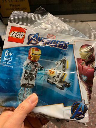 全新Lego 30452 現貨 Quantum suit Ironman + dum-E