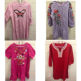 [sale‼️] dress motif butterfly, bunga, tribal