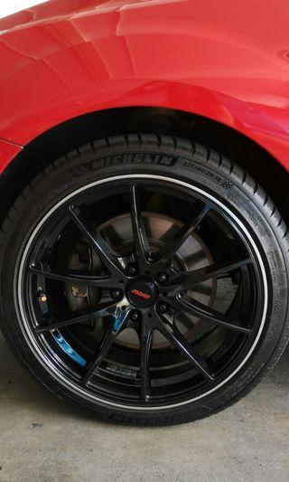 Volk racing G25 rims (rep) with Michelin ps4 tires
