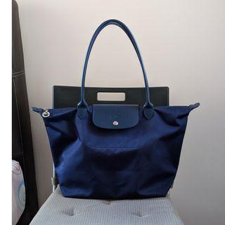 Longchamp Le Pliage Neo Tote Bag L Blue