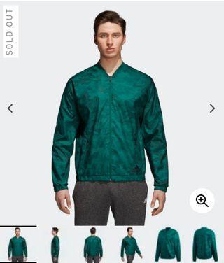 Adidas woven bomber green army jacket