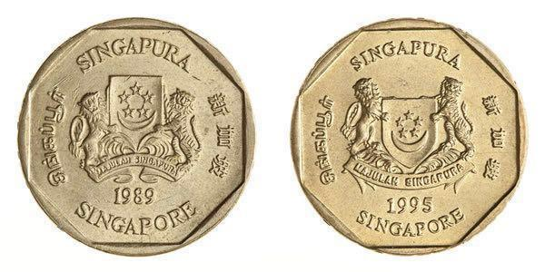 💰Vintage Coin Collectible Singapore One Dollar Coin 1988 and 1995💰