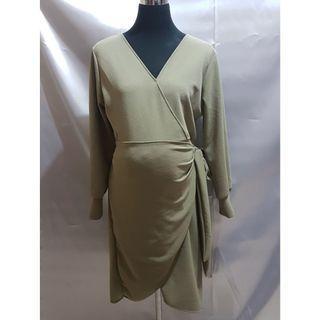 Preloved Maternity Office Long-Sleeved Dress (Size Details on Description)