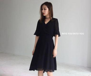 🚚 XL Slimming Black Dress
