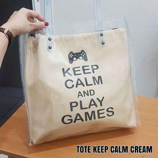 Tote Keep Calm Cream