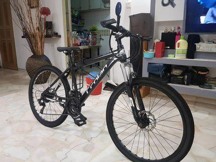 Crolan bicycle mtb. gear can change up to 7 speed.  Need to fix back break. Good condition seldom use.. frice is fixed.