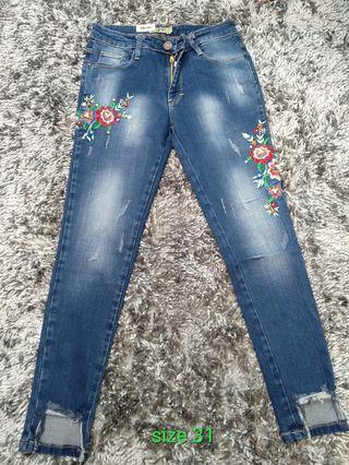 Celana jeans bordir