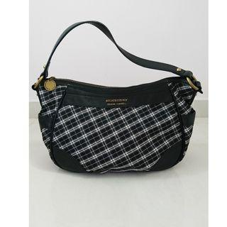 🚚 Burberry Blue Label Handbag Black Checkered Authentic
