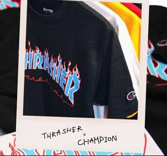 Thrasher x Champion Authentic T-Shirt New Release