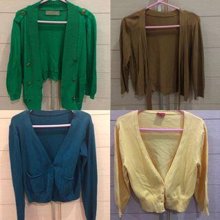 [Sale‼️] Cardigan / outer (blue, green, yellow, brown)