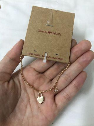 Brandy Melville Heart Locket Bracelet
