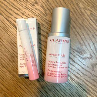 Clarins 三重透白光感精華 (增量裝)+ 透白抗炎淨斑筆