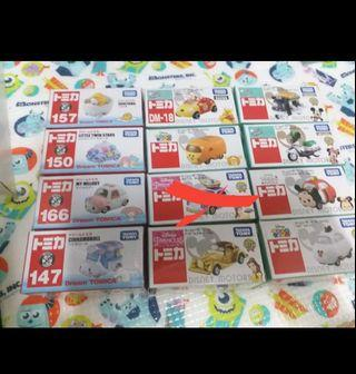 $48/架 全新日本 Tomica 車 蛋黃哥 little twins star melody Belle winnie the pool 美女與野獸 mickey mouse olaf tsum
