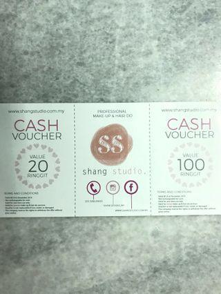 Shang Studio RM20 cash voucher {Professional Make-up& Hair-do} #EST50