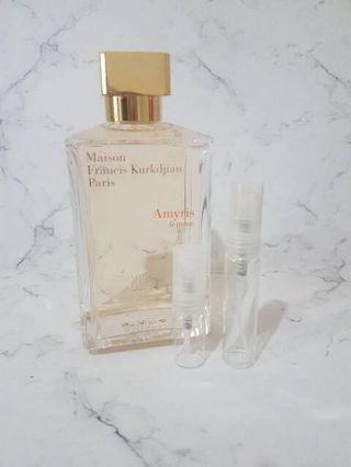 [SHARE IN BOTTLE] New - Original Maison Francis Kurkdjian Baccarat MFK Rouge 540 / Amyris Femme 5ml-10ml
